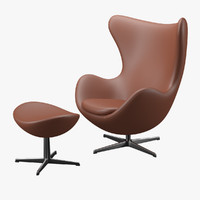 Egg Chair & Stool - Arne Jacobsen