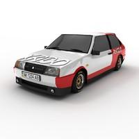 lada vaz 2108 racing 3d model