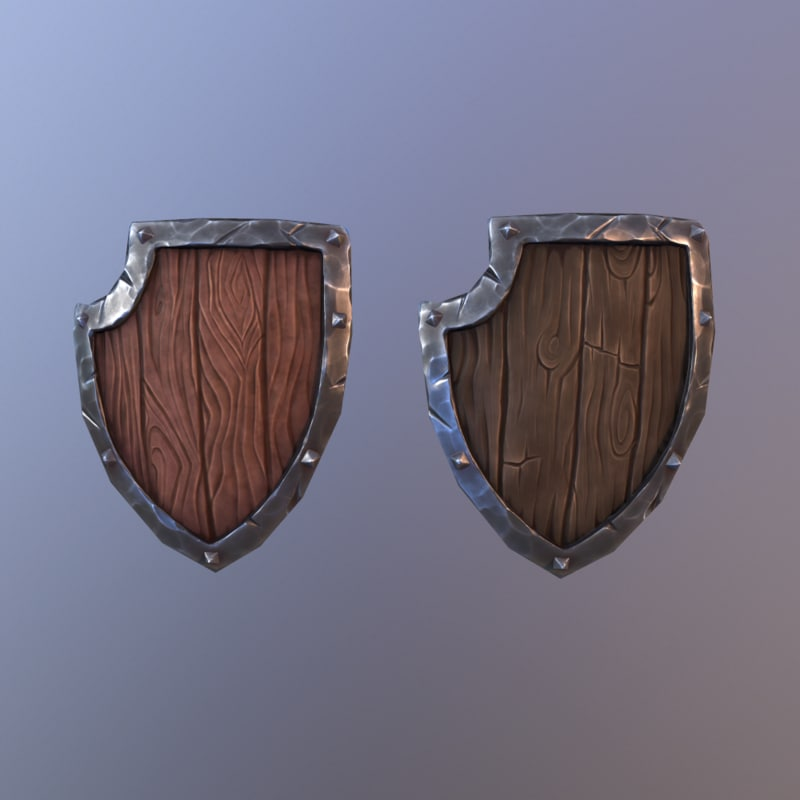3d fbx cartoon shield
