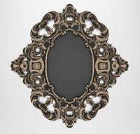 carved mirror bronze 3d model