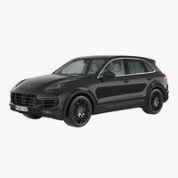 3d porsche cayenne turbo s model