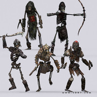 3d model dark bones skeletons -
