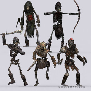 3d model dark bones skeletons -