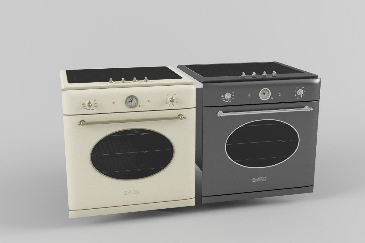 3d max oven smeg cooktop