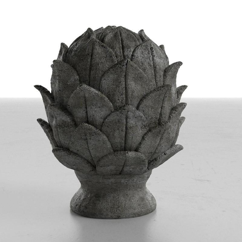 3d artichoce object model