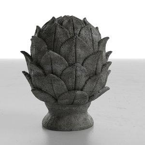 3d artichoce object