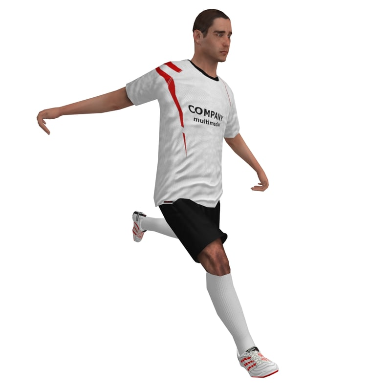rigged soccer player 2 3d model