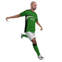 Soccer Player 3 LOD1 Rigged