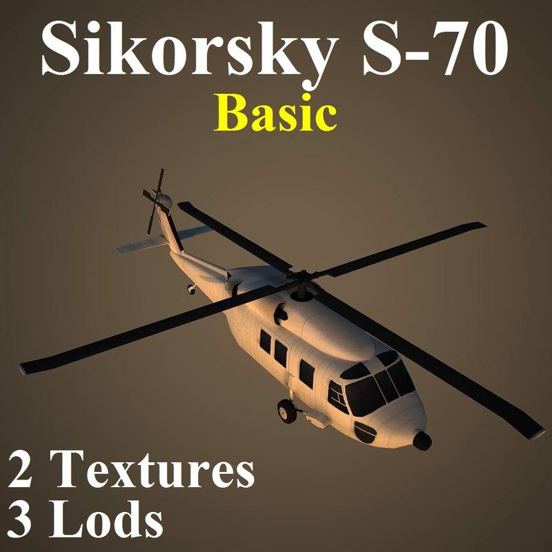 sikorsky basic helicopter 3d model