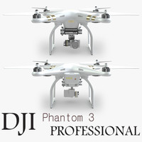 dji phantom 3 professional 3ds
