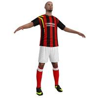 3d soccer player 1