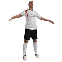 3d soccer player 2