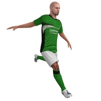Soccer Player 3 LOD2 Rigged