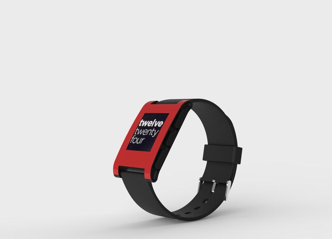 pebble smart watch obj