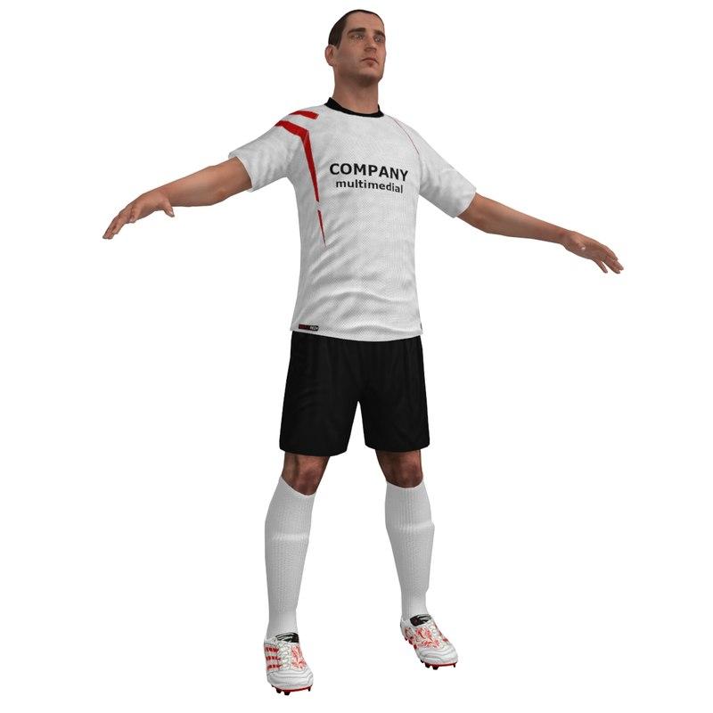 3d soccer player 2 model
