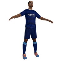 soccer player 6 3d max