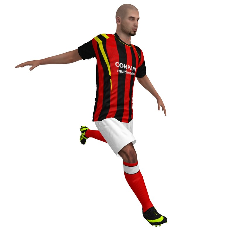 3d rigged soccer player 1