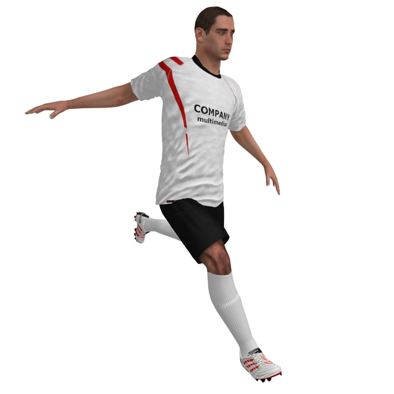 rigged soccer player 2 3d max