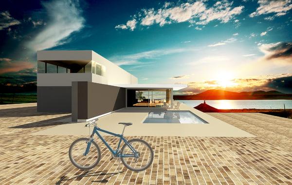 3d model modern architectural
