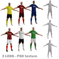 3d model pack soccer player