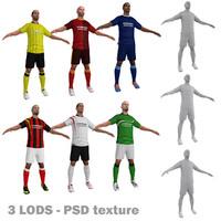 3d model pack soccer player
