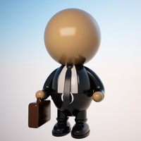 Cartoon Businessman Character