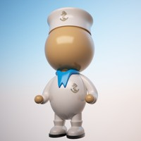 3d sailor character cartoon