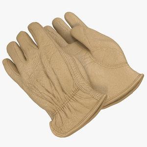 3dsmax leather work gloves 2