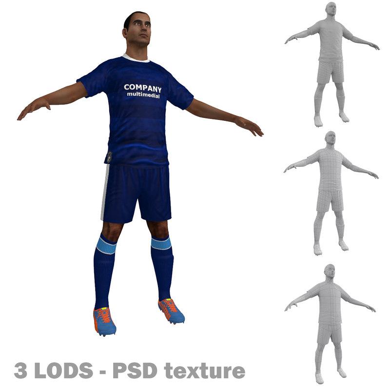 3d soccer player 6