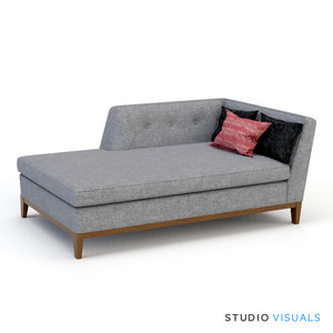 adlers danner sectional 3d model