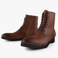 leather work boot 3d max