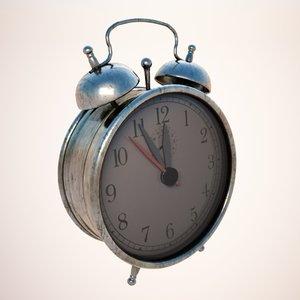 max alarm clock metallic