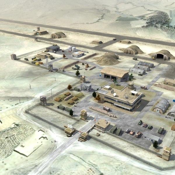 3d model military airbase