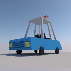 low-poly police car 3d model