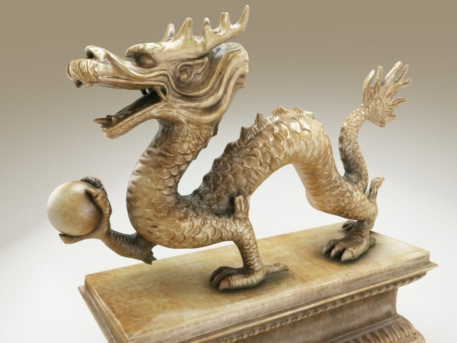 3ds max sculpture dragon china