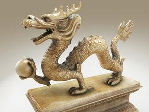 3ds max sculpture dragon china