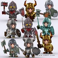 3DRT - Chibii Realm Characters Bundle