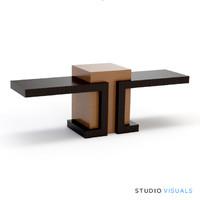3d model of reception desk