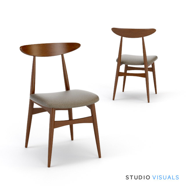 kaia dining chair 3d max