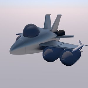 3ds low-poly f-15