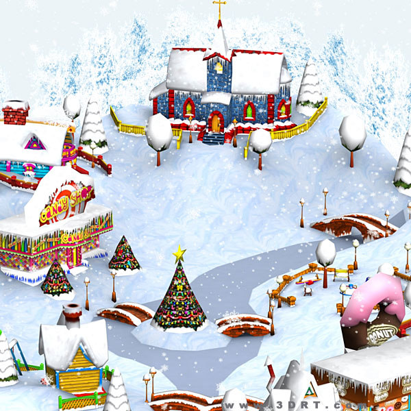 3ds christmas village -