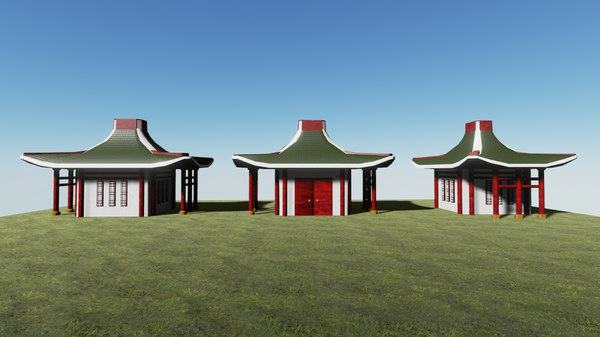 chinese house 3d fbx