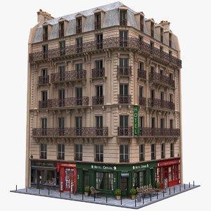 france tenement corner 3d fbx