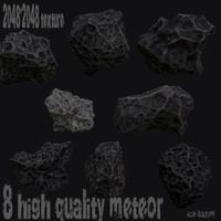 3d model of meteor