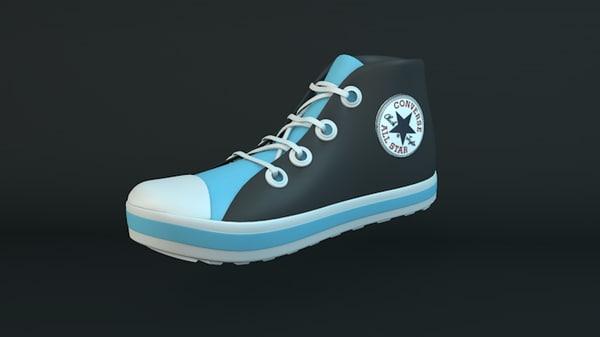 shoe sneaker 3d c4d