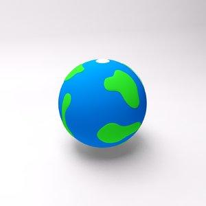 cartoon planet 3d model