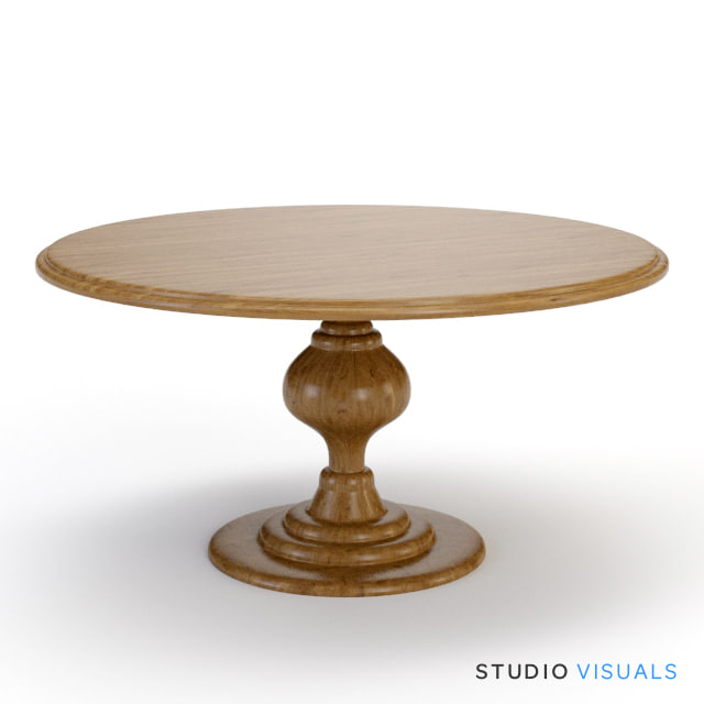 3ds max pedestal table