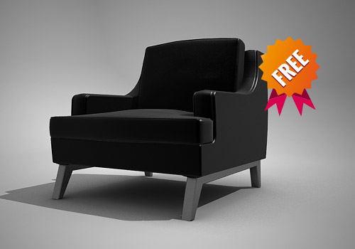 free armchair chair belem 3d model