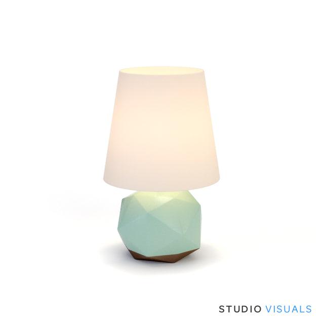 max crackle mint lamp