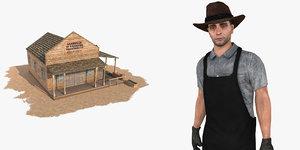 3dsmax wild west blacksmith pack